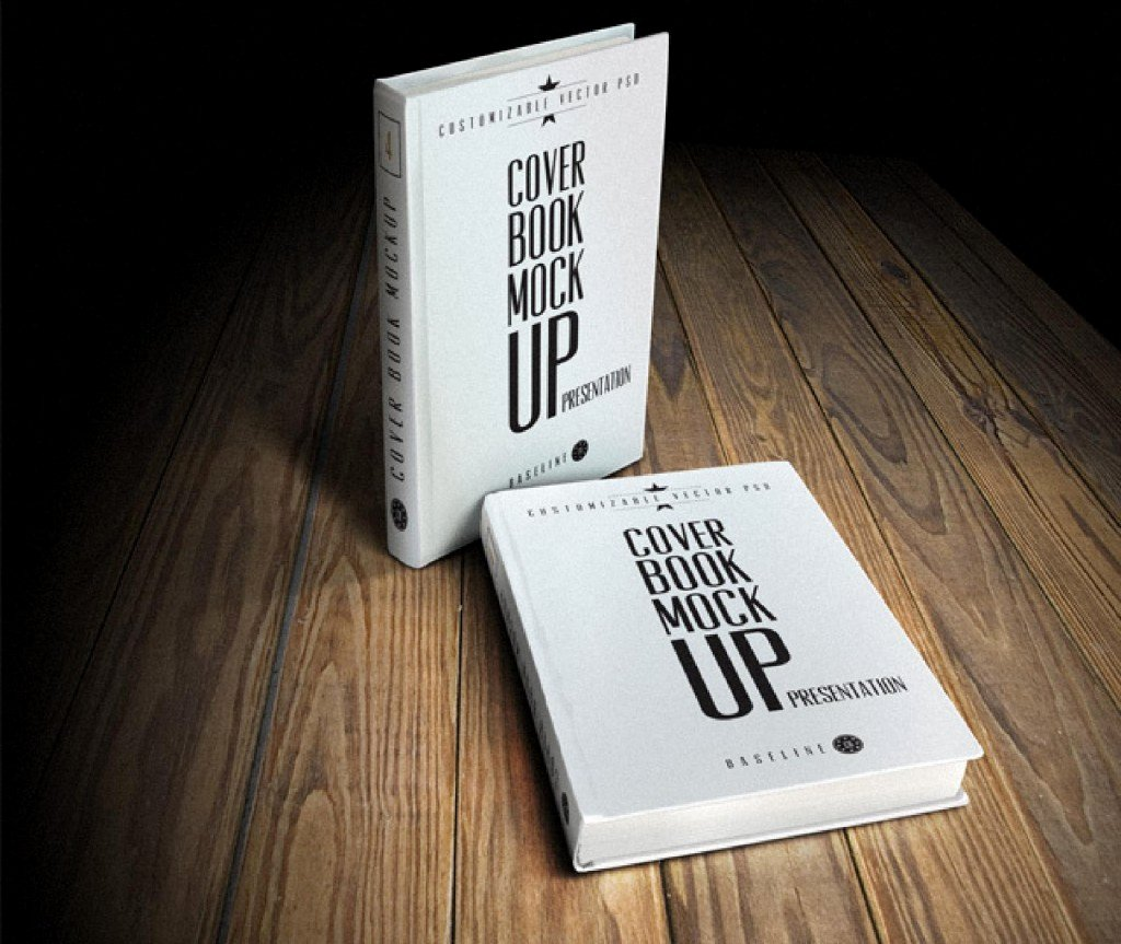 12 Hardcover Book Mockup Psd Free Book Cover