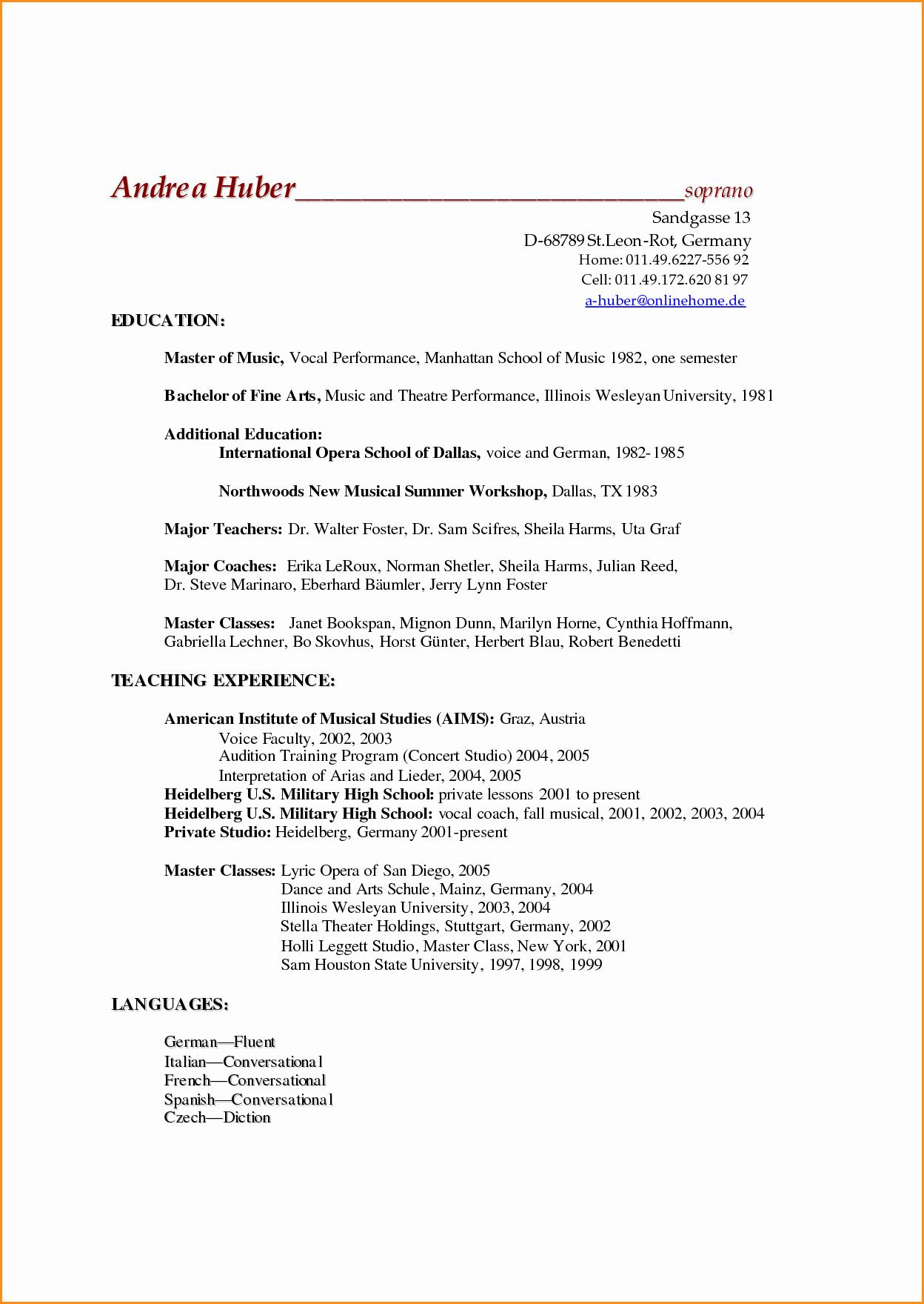 12 High School Academic Resume