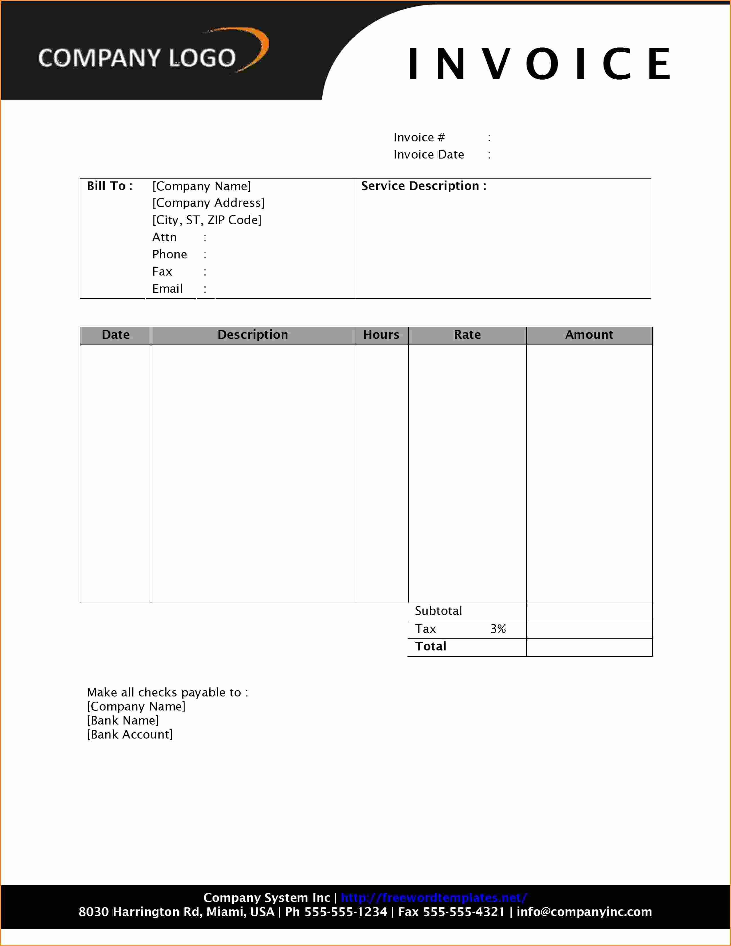 12 invoice template microsoft word