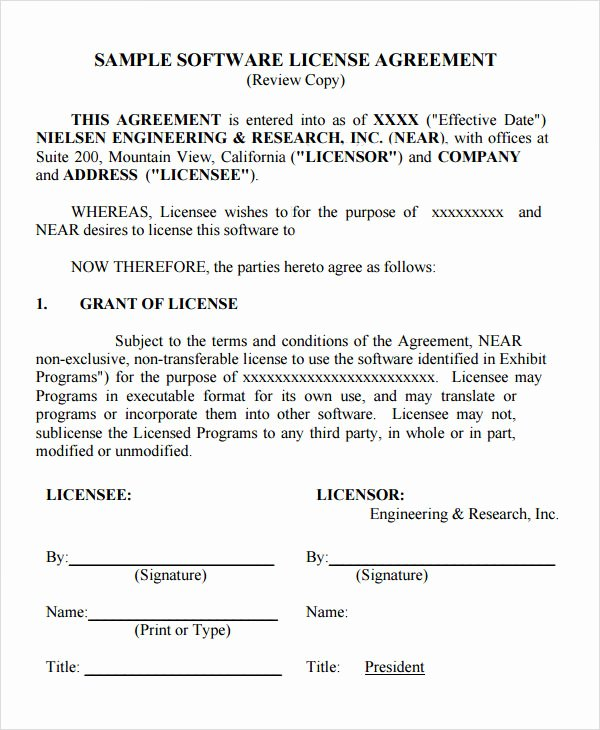 12 License Agreement Templates Download for Free