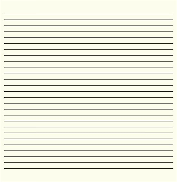 lined paper template