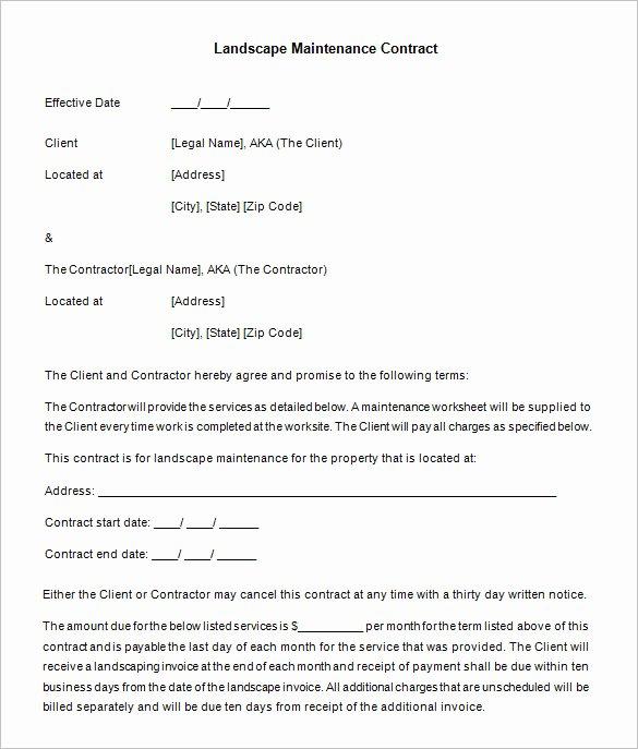 12 Maintenance Contract Templates Doc