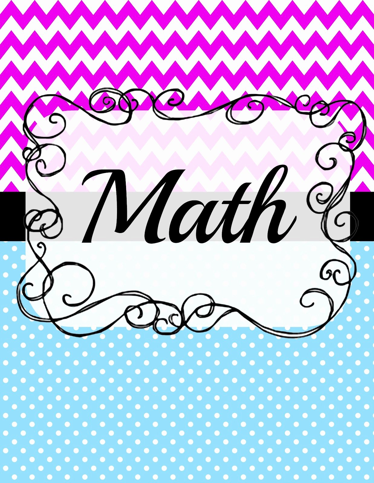 12 Math Binder Covers