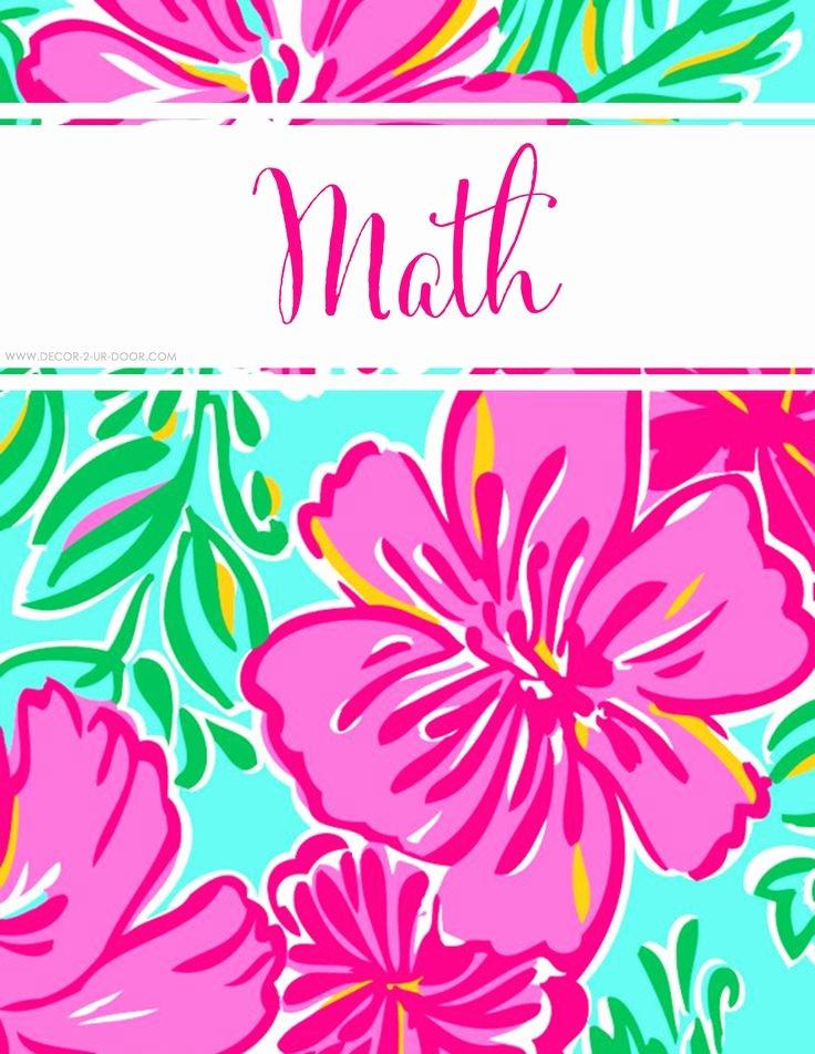 12 Math Binder Covers
