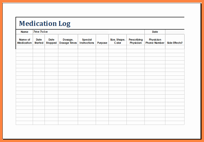12 Medication List Template