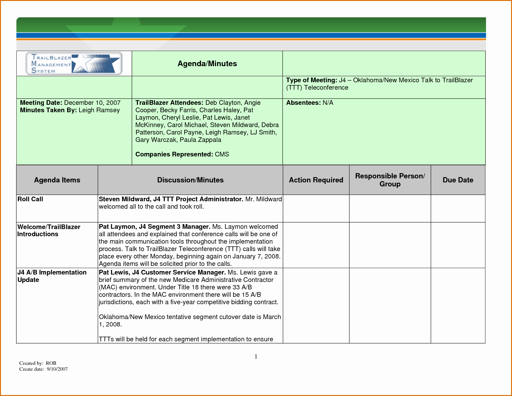 12 Meeting Minutes Template Excel