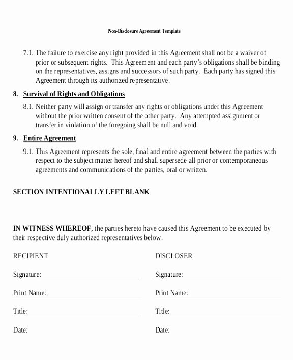12 Non Disclosure Agreement Template Canada Rreiw