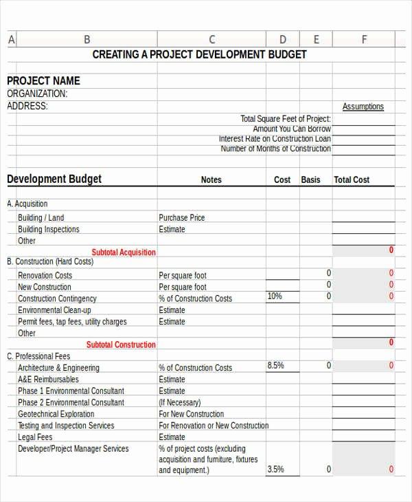 12 Non Profit Bud Templates Word Pdf Excel