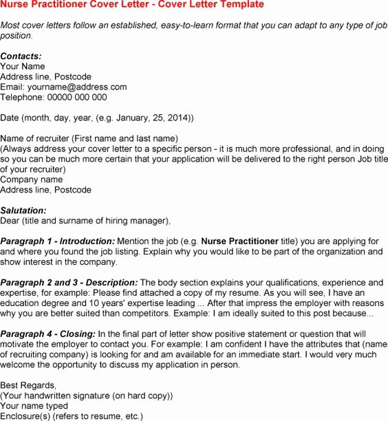12 Nurse Practitioner Cover Letter