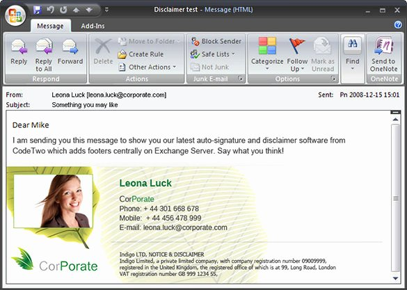 12 Outlook Email Signature Templates Samples Examples