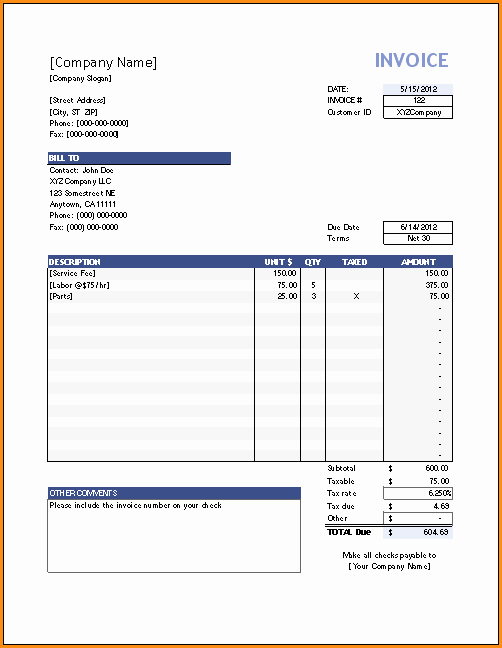 12 Paid Invoice Template