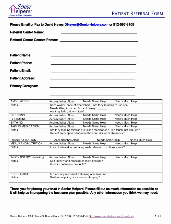 12 Patient Referral form Template Utixy