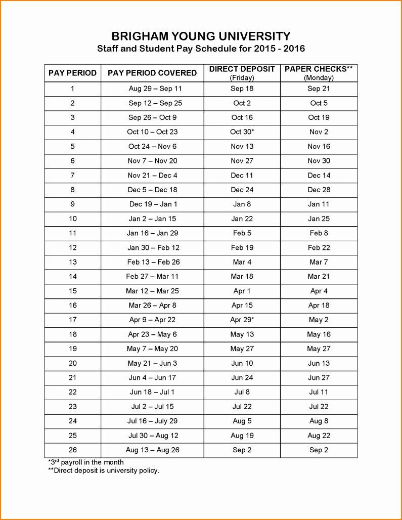 12 Payroll Calendar 2016 Template