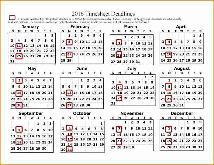 12 Payroll Calendar Template 2017