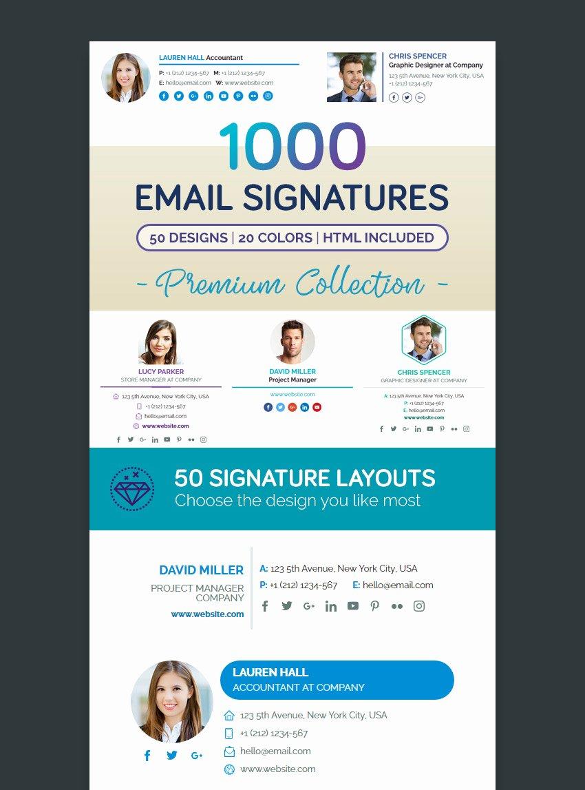12 Professional Email Signature Templates with Unique