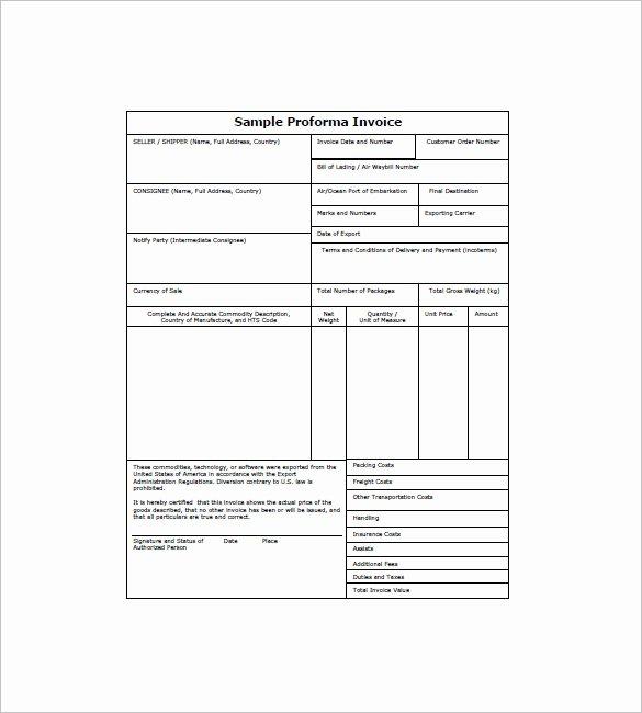 12 Proforma Invoice Templates Pdf Doc Excel