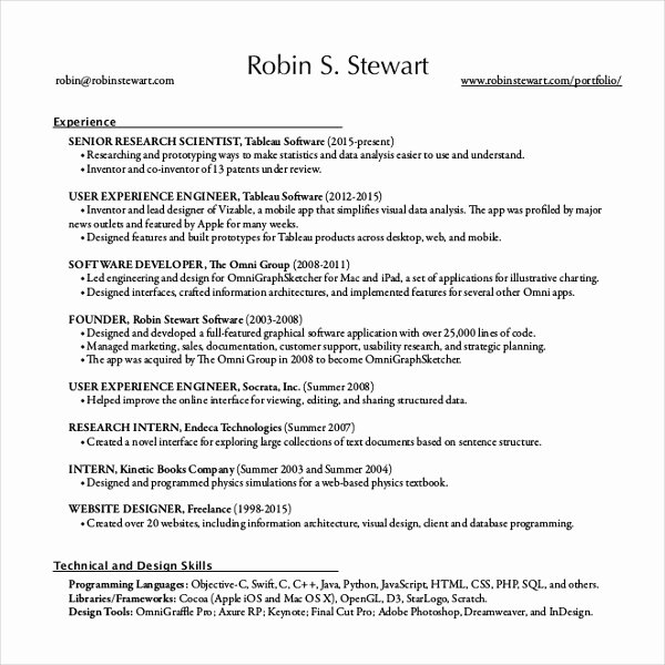 12 Resume Writing Template – Free Sample Example format