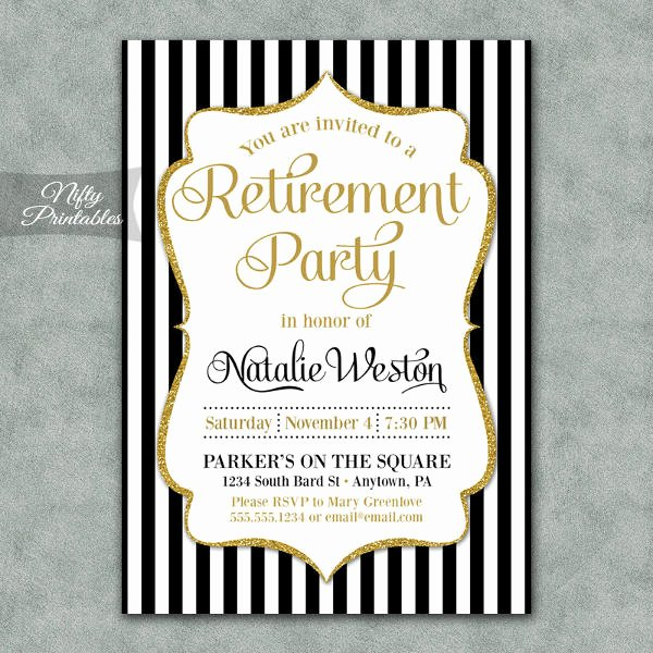 12 Retirement Party Invitations Psd Ai