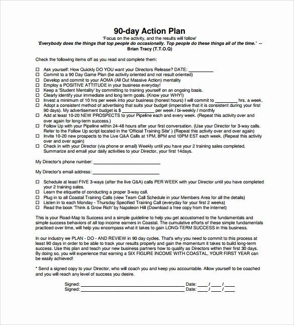 12 Sample 90 Day Plan Templates