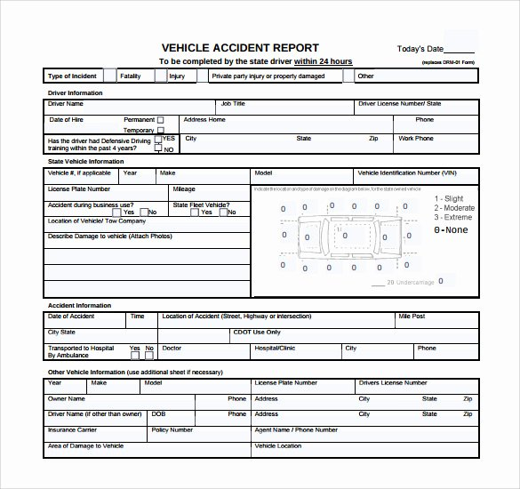 12 Sample Accident Report Templates – Pdf Word Pages