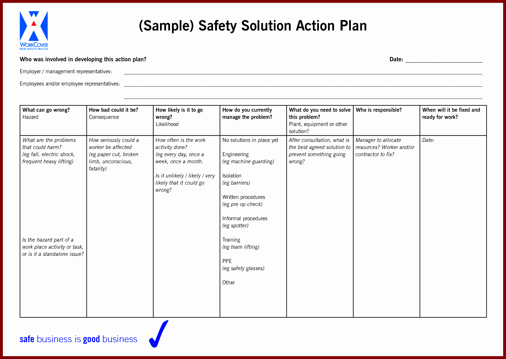12 Sample Action Plan Template Sendletters Info Example