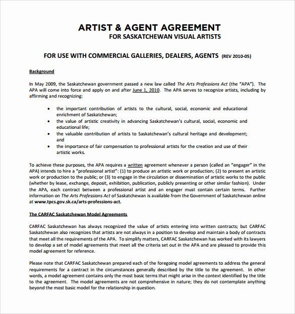 12 Sample Artist Contract Templates to Download for Free