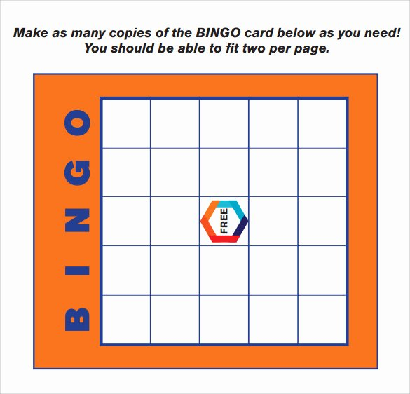 12 Sample Bingo Cards