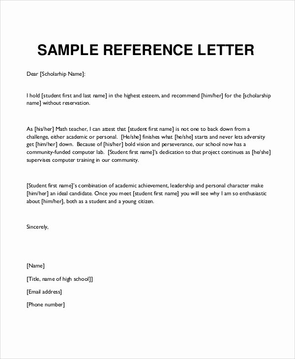 12 Sample Character Reference Letters – Pdf Word Pages