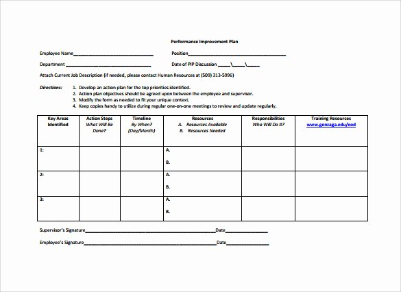 12 Sample Employee Action Plan Templates