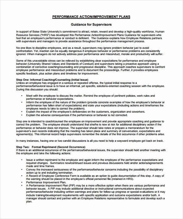 12 Sample Employee Action Plan Templates