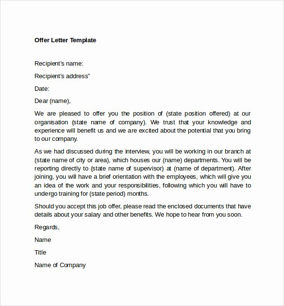 12 Sample Fer Letter Templates – Free Examples