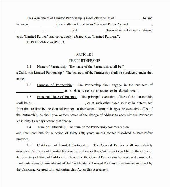 12 Sample General Partnership Agreement Templates