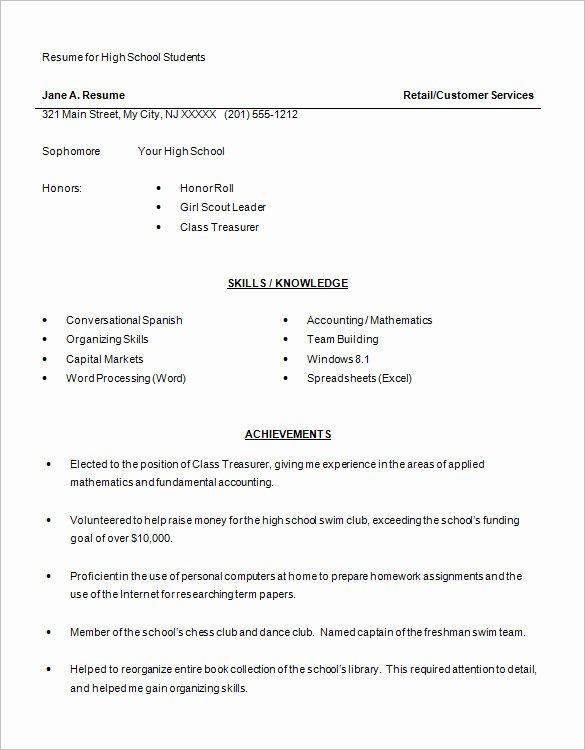 12 Sample High School Resume Templates Pdf Doc