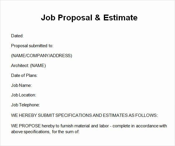 12 Sample Job Proposal Templates