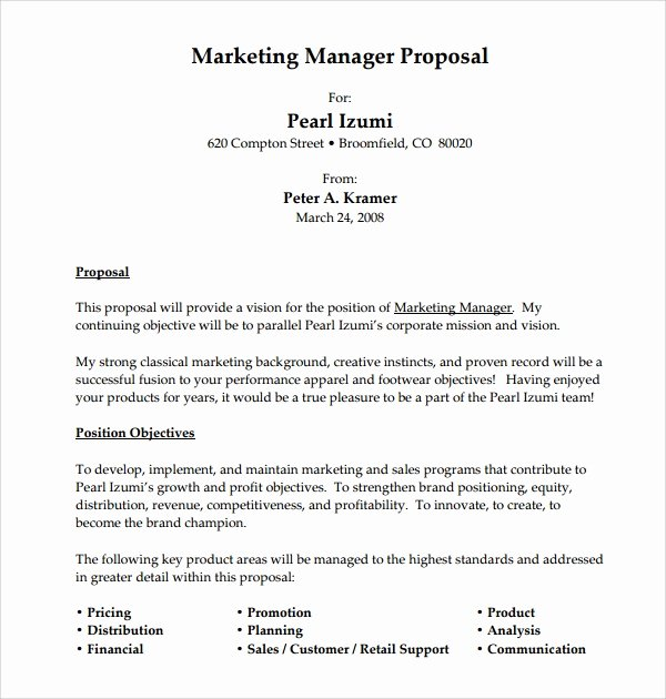 12 Sample Job Proposal Templates