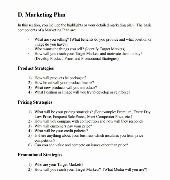 12 Sample Marketing Business Plan Templates