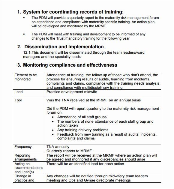 12 Sample Training Needs Analysis Templates – Pdf Word