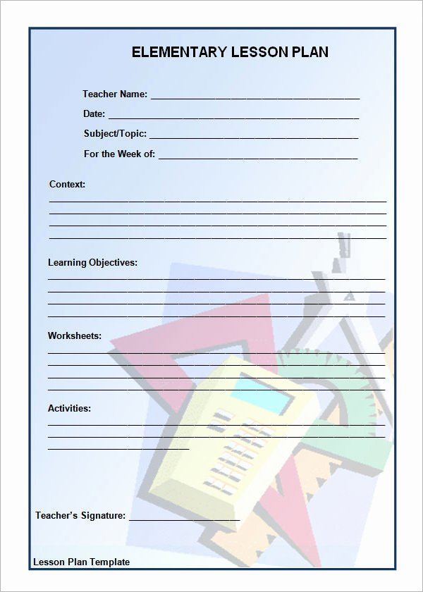12 Sample Unit Plan Templates to Download for Free