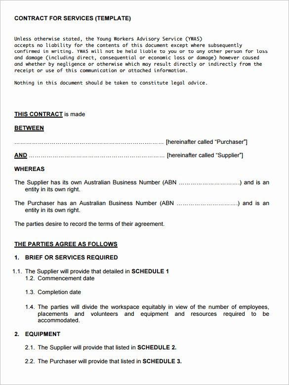 12 Service Contract Templates Pdf Doc