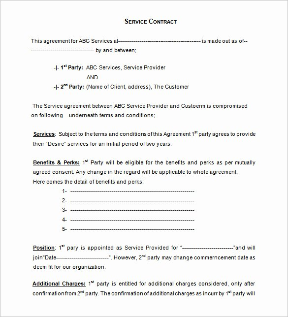 12 Service Contract Templates Pdf Doc