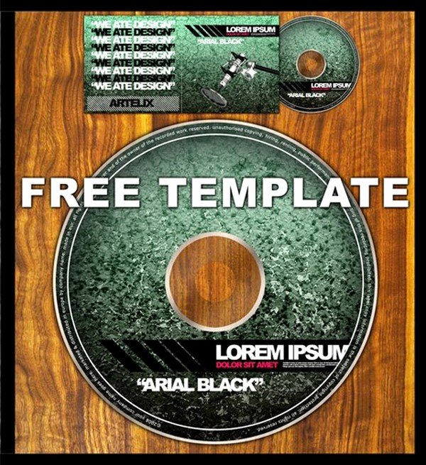 12 Sets Free Cd Dvd Cover Templates