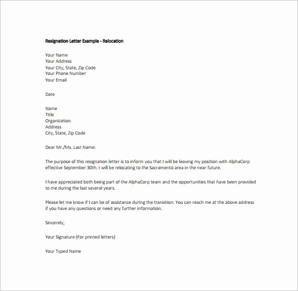 12 Simple Resignation Letter Templates Pdf Doc