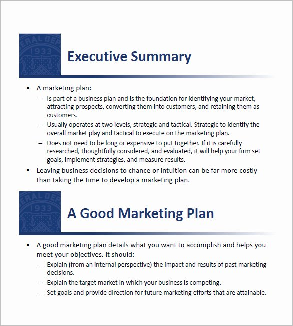 12 Small Business Marketing Plan Template Free Sample