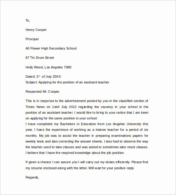 12 Teacher Cover Letter Examples to Download