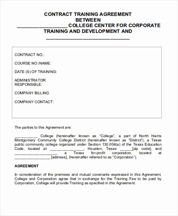 12 Training Contract Templates