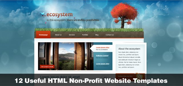 12 Useful HTML Non Profit Website Templates