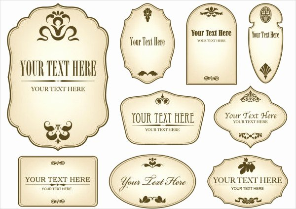 12 Vintage Bottle Label Templates Free Printable Psd