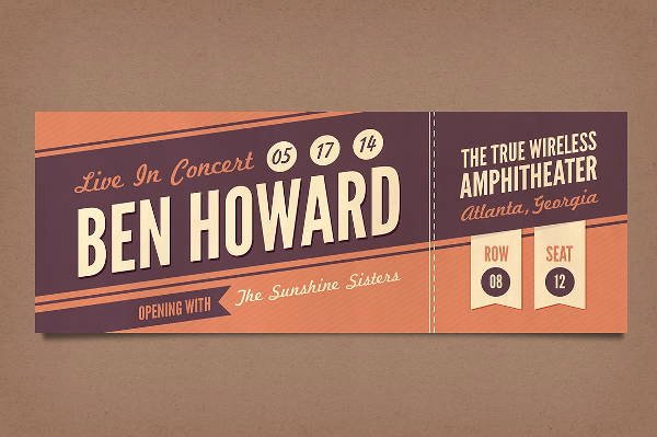 12 Vintage Ticket Templates Psd Ai Word