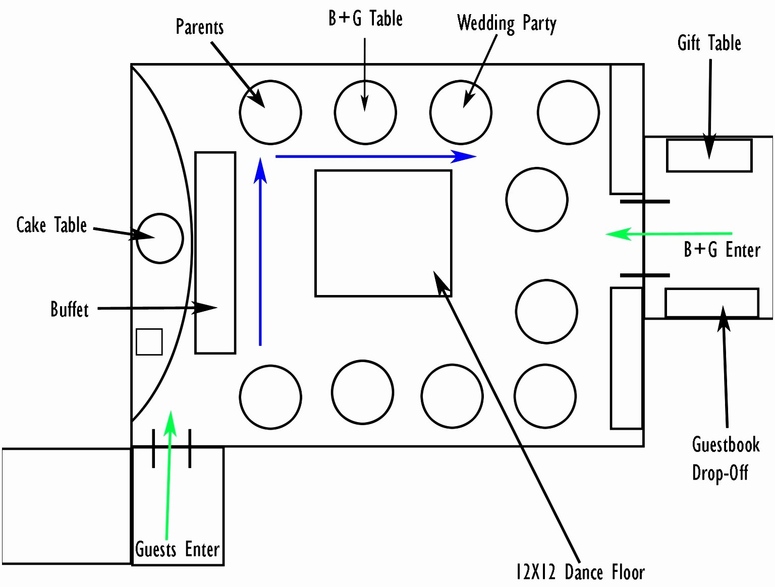 12 Wedding Reception Table Layout Template Vrwwi