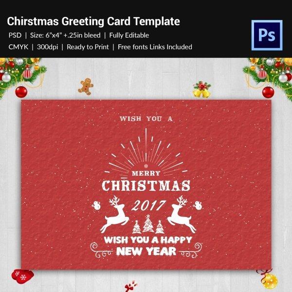 120 Christmas Greeting Card Templates Free Psd Eps Ai